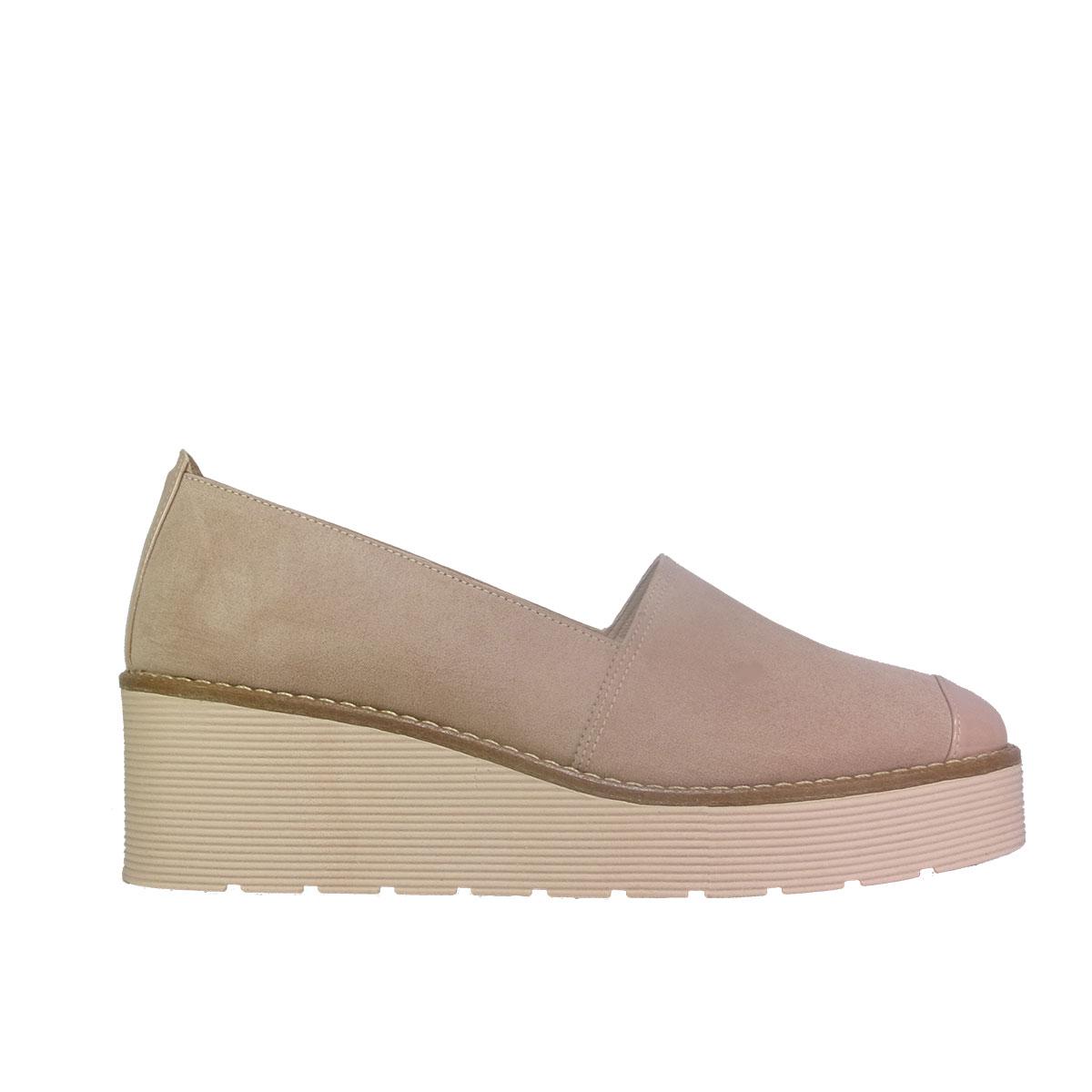 c5319140515 Beatris 310-EL Γυναικεία Παπούτσια Loafers Nude Suede