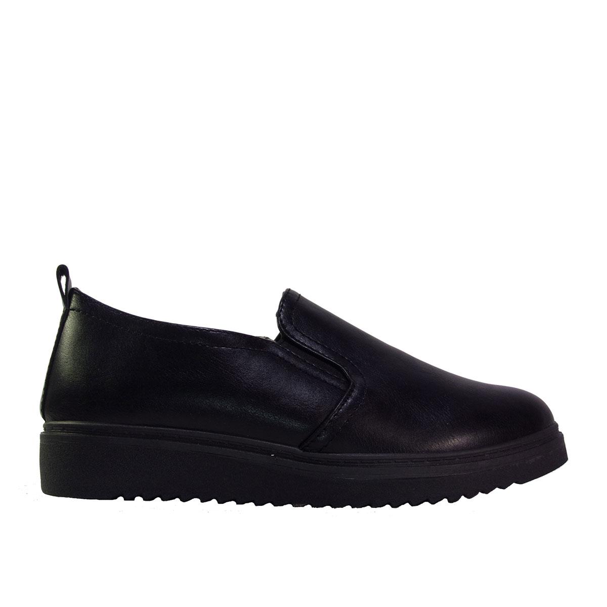 ed4cdf9a4c7 ILoveMyShoes B-512 Γυναικεία Παπούτσια Loafers Δέρμα Μαύρο