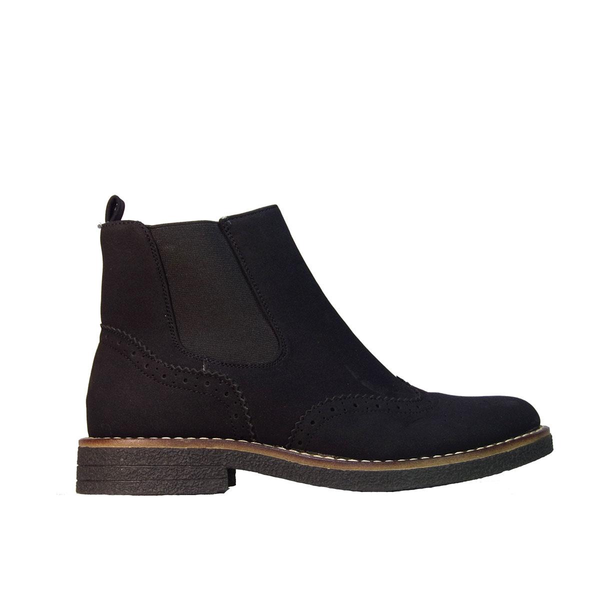 31b57e73542 Ideal Shoes 5355 Γυναικεία Μποτάκια Χαμηλά Suede Μαύρο – ILoveMyShoes