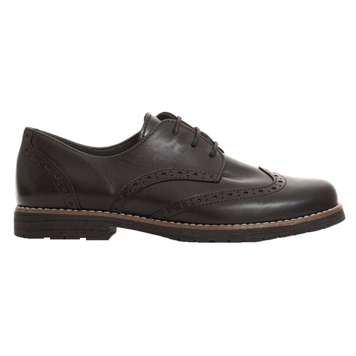 afb3516846a RAGAZZA 0183 Γυναικείο Παπούτσι Δετό Oxford Δέρμα Μαύρο