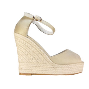 3c4a5d8ec0 ILoveMyShoes W18002 Γυναικεία Πέδιλα Πλατφόρμα Σχοινί Suede Μπεζ